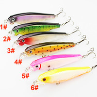 High quality Fly Fishing Crankbait 8cm 7. 5g 6colors Laser wo...