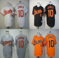 Cheap Men #10 Adam Jones Jersey Embroidery Logos Baltimore O...