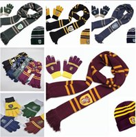 Harry Potter Scarf Scarves Hat Touch Screen Gloves Gryffindo...