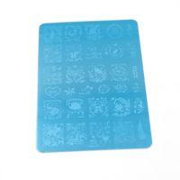 Новый ногтей штамповки пластин 11 шт. популярный дизайн ногтей штамп пластины штамповки ногтей пластины искусства DIY шаблон 145 * 95 мм HK01-11