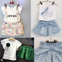 2016 Summer Kids Suit Kids Girls Cute Bow Girl Dress White T...