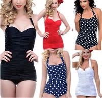 2015 Newest Strappy Sexy Retro One Pieces Swimsuit Swimwear ...
