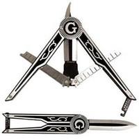 Нож для поднятия зубьев Free-Mason, карманный нож для масонской эмблемы, складной нож, охотничий нож