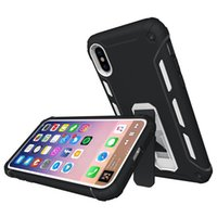 For iPhone X Back Cover Kickstand Case 2 In 1 Hybrid PC TPU ...