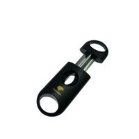 COHIBA 무료 배송 고품질 플라스틱 포켓 스테인레스 스틸 시가 커터 나이프 더블 블레이드 도매 가격