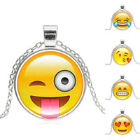 21 Style Hot Fashion Emoji Pendant Necklace QQ Expression Ch...
