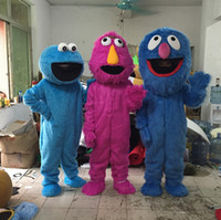Costume de mascotte de rue de Sésame chaud vente monstre de biscuit d'Elmo costume de monstre de biscuit de Grover avec la vente directe d'usine de haute qualité