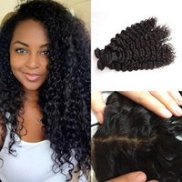 Brazilian Deep Wave With Frontal Closure And Bundles, Cheap U...