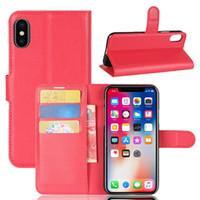 10PCS Schlag-Mappen-Kasten für iphoneX iphone8 TPU Leder Bookcover für iphone6s 6s plus 7plus 5s Hochleistungsfall mit Ständer