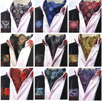 Mens cravat ties Vintage Polka Dot floral Wedding Formal Cra...