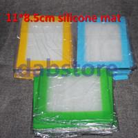 vente chaude 14 * 11.5cm tapis de silicone, tapis de silicone antiadhésif dab cire huile tapis livraison gratuite