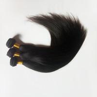 Brasiliansk Virgin Rak hår för fabrik i bulk Naturlig färg och svart # 1 # 1b Obehandlad Indin Remy Haft Weft Extensions I lager