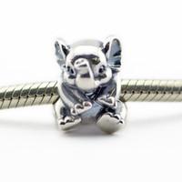 Свободные бусины подходит для pandora змея цепи браслеты ожерелье 100% стерлингового серебра 925 бусины счастливый слон Шарм девушка подарок 2016 новое лето