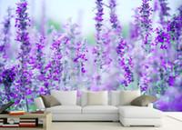 carta da parati personalizzata per pareti lavanda fiore mare moderno TV sfondo parete foto carta da parati minimalista per le pareti
