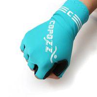 Großhandel Top Qualität Outdoor Sport Gel Unisex Halbfinger Professionelle Fahrradhandschuhe Fahrrad Fahrrad Stoßdichte Handschuhe