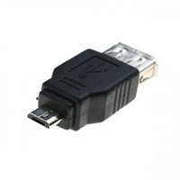 Venta al por mayor 300 unids / lote USB 2.0 A hembra a micro USB B 5 pines macho F M convertidor adaptador de cable