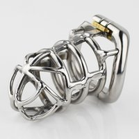 2017 NEW Stainless Steel Male Chastity Device 83mm Cock Cage...