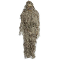Caccia Woodland 3D Bionic Leaf Disguise Uniform CS Camouflage Suits Set Sniper Ghillie Suit Jungle outdoorTrain Hunting Cloth