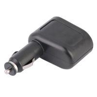 ユニバーサル1x2車USBチャージャー電源ダブルソケットカースタイリングアクセサリータバコライターエクステンダースプリッター