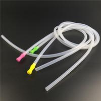 다채로운 물 담 뱃 대 액세서리 유리 오일 버너 봉 5mm에 대 한 실리콘 mouthpiece와 85mm 실리콘 튜브 금연 수도관 * 7mm
