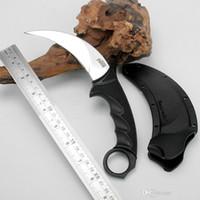 Aço frio faca tática de aço tigre tigre karambit d2 lâmina pega pega fixo lâmina fixa acampar caça sobrevivência EDC homem coleção