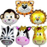 50pcs lot Large size cartoon big animal balloon aluminum bal...