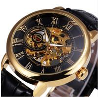 2021 Forsining 3D LogoBlack Gold Men Menchical Watch Watch Montre Homme Mens Часы Лучшие Бренд Роскошный Кожаный Скелет Королевский дизайн