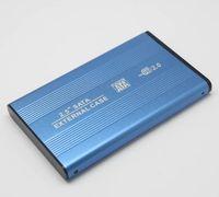 소매 패키지 MOQ 100PCS와 노트북 PC 컴퓨터 노트북 2.5 'HDD SATA 외장 하드 디스크 케이스 인클로저 지원 USB2.0 최대 3TB