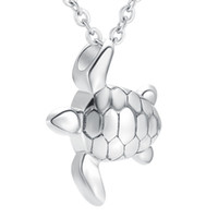 IJD9949 Totoise Shape Ash Keepsake Urn Never Fade Memorial Joyas Para Las Colmenas Collar Colgante de Joyería Venta Barata