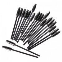 Descartáveis Pestana Mascara Aplicador Varinha pincel de maquiagem One-off Cílios Extensão escovas 50 PCS / bag frete grátis