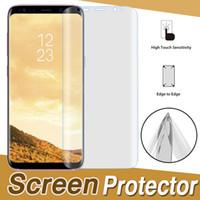 3D Kavisli Tam Kapak Kapsama Için Yumuşak TPU Ekran Koruyucu Film Samsung Galaxy S10 Lite S9 S8 Artı S7 Not 9 A6 A8 iPhone XS Max XR X 8 7