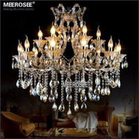 Modern Maria Theresa Crystal Chandelier Light Cognac LED Cry...