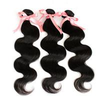 """Greatremy 100% Малайзийских волос ткать необработанные человеческие волосы 22 """" 24 """" 26 """" Малайзийских наращивание волос волна тела естественный цвет 7а 3шт двойной уток"""