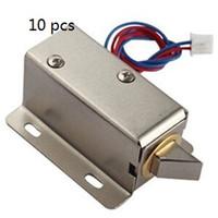 10 PCS Verrouillage électronique Verrouillage électrique 12V Serrures d'armoire Serrures de tiroir électrique Petit Système de contrôle d'accès électrique Mini serrures