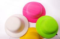 """15Color 5 """"Solide feutre mini top chapeau fascinator Base Femmes Mincerery Party 50pcs / Lot Factory Price Expert Design Quality Statut d'origine"""