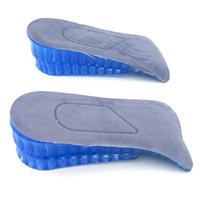 Nova chegada Aumentou 3.8 cm Altura Metade Elevador 2 Camadas de Silicone Aumentou Palmilhas Sapato Pads Frete Grátis