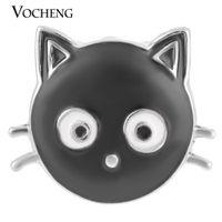 Vocheng noota 18mm zwarte kat gember snap handgeschilderde verwisselbare sieraden VN-1272