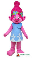 adults Trolls theme party costumes Poppy mascot costume for ...