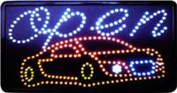 LED 비즈니스 오픈 세차 기호 열기 밝은 조명 열기 / 끄기 주유소 Neon 21.5 x 13 인치 무료 배송
