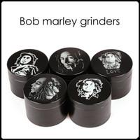 2016 Bob Marley Grinder Broyeur à herbes en alliage de zinc 4 couches 50mm Broyeurs à base de plantes Broyeurs en métal Broyeurs à tabac SharpStone Broyeurs