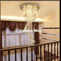 جديد وصول الحديثة led k9 كريستال الثريا تعليق كريستال تدوير فيلا الدرج قلادة الإضاءة غرفة الطعام مصباح droplight