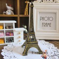 15 cm Vintage Alaşım Bronz Ton Paris Eyfel Kulesi Figürinler Heykeli Modeli Dekor