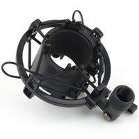 Black/SilverT2 3KG Bearable Load Mic Microphone Shock Mount Clip Holder Stand Radio Studio Sound Recording Bracket Professional 43-50MM