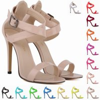 Sapato Feminino Women Sexy Party Open Toe Bridal Patent Leat...