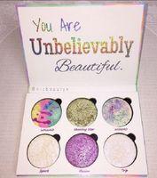 جديد حار ماكياج الحب لوكس الجمال لوحة الخيال أنت جميلة بشكل لا يصدق 6 اللون bronzers فسفورية لوحة dhl مجانا + هدية