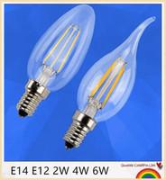 도매 - 2W 4W 6W E14 E27 주도 촛불 전구 조명 따뜻한 / 화이트 높은 밝은 LED 스포트 라이트 NO 디 밍이 AC85-265V CE ROHS