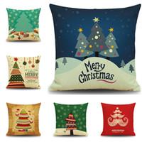 2016 Árvores De Natal Capa de Almofada Colorido Tema de Natal Travesseiro Caso Decoração Do Partido Cor Dazzle Capa de Almofada Sofá Sofá Cadeira Almofada