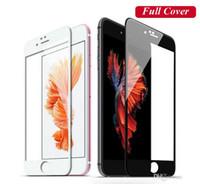 IPhone7 Için temperli Cam 2.5D 0.26 MM 9 H Sert Tam Kapsama Anti-Scratch Ekran Koruyucu Perakende Paketi Ile iPhone 6 7 Artı 7 Artı