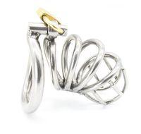 Aço inoxidável dispositivo de Castidade Masculino Adulto Gaiola Galo Com anel em forma de arco Anel BDSM Sexo Bondage Homens Cinto de Castidade Frete Grátis