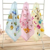 Toalhas de banho toalhas de bebê panos de algodão caixa de babador do bebê bonito pequena toalha para o jardim de infância crianças suor e baba 26X26 CM